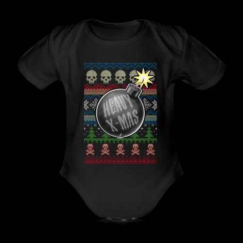 Heavy X-Mas Christbaumkugel-Bombe - Baby Bio-Kurzarm-Body