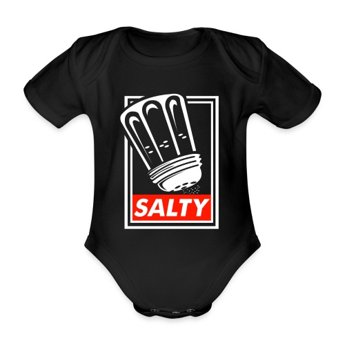 Salty white - Organic Short-sleeved Baby Bodysuit