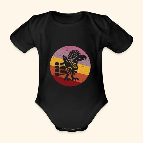 Navajo Style Turkey Retro - Organic Short-sleeved Baby Bodysuit