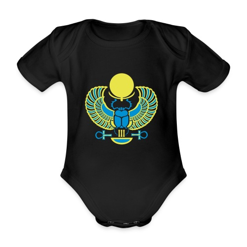 Geflügelter Skarabäus - Baby Bio-Kurzarm-Body