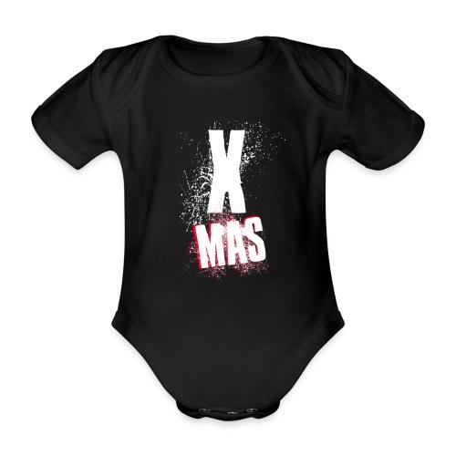 X Mas Christmas - Baby Bio-Kurzarm-Body