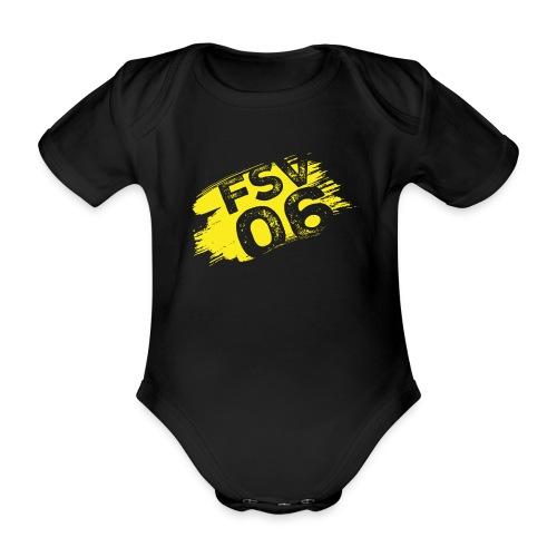 Hildburghausen FSV 06 Graffiti gelb - Baby Bio-Kurzarm-Body