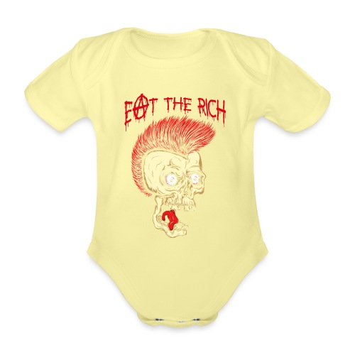 Eat The Rich (For Dark Shirts) - Baby Bio-Kurzarm-Body