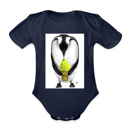 Penguin Adult - Organic Short-sleeved Baby Bodysuit