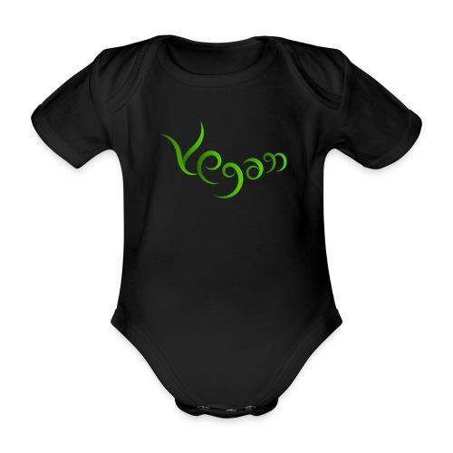 Vegaani käsinkirjoitettu design - Vauvan lyhythihainen luomu-body