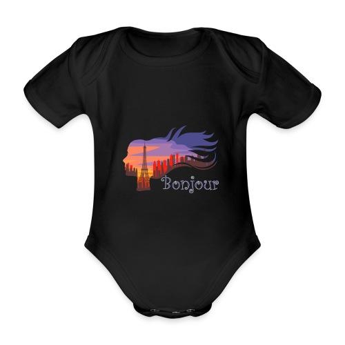 Bonjour Paris - Baby Bio-Kurzarm-Body