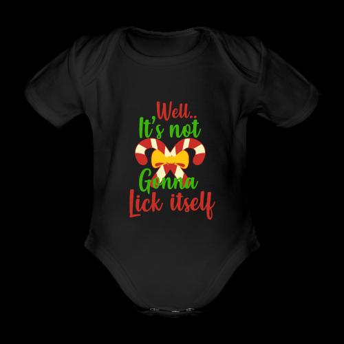 Weihnachten   lecken Zuckerstange Masche xmas - Baby Bio-Kurzarm-Body