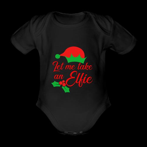 Weihnachten   Elf Mütze Weihnachtself Wortspiel - Baby Bio-Kurzarm-Body