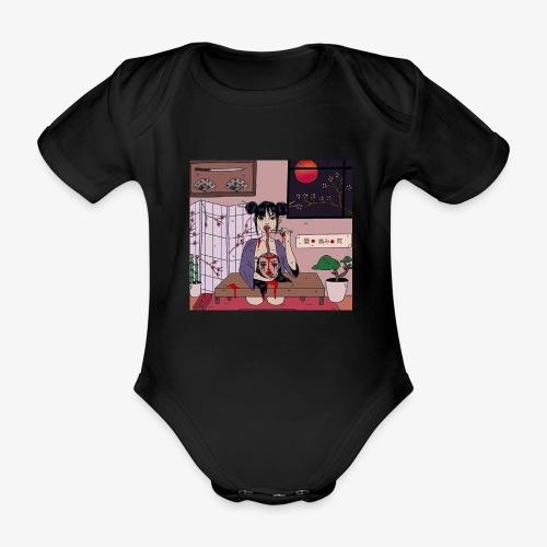 Head loss - Organic Short-sleeved Baby Bodysuit