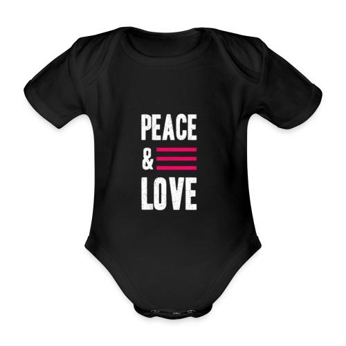 Peace and Love - Baby Bio-Kurzarm-Body