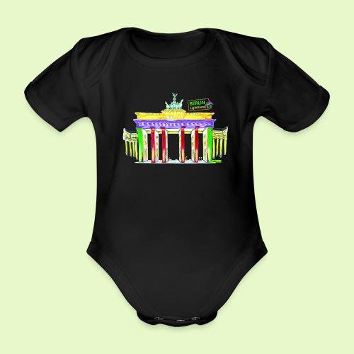 Berlin/Brandenburger Tor/PopArt/BerlinLightShow - Baby Bio-Kurzarm-Body