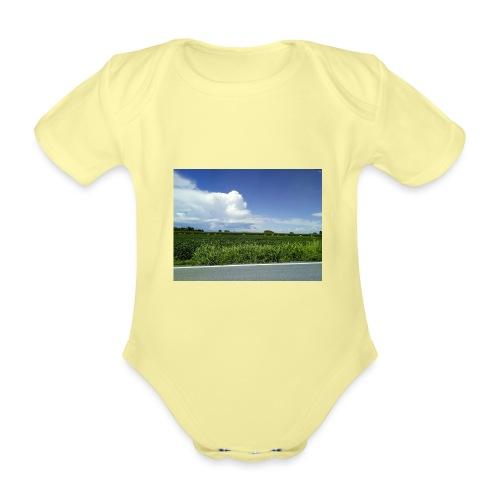 prato verde - Body ecologico per neonato a manica corta