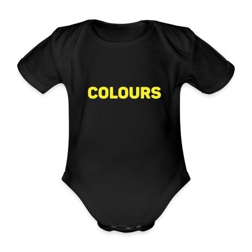 COLOURS - Body orgánico de manga corta para bebé