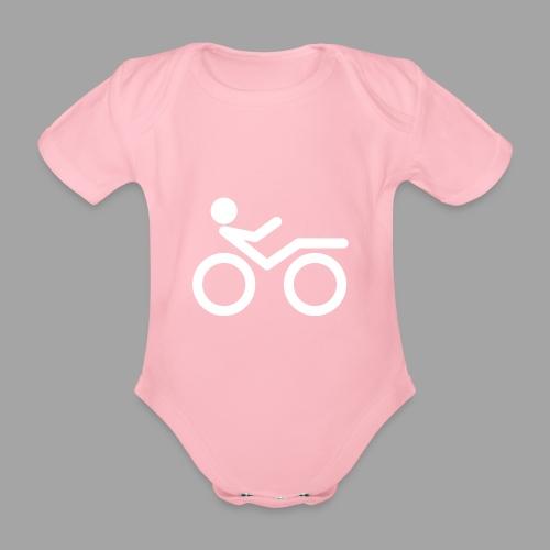Recumbent bike white 2 - Vauvan lyhythihainen luomu-body