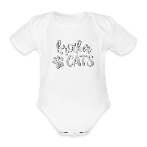 brother of cats grau - Baby Bio-Kurzarm-Body
