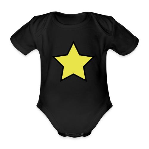 Star - Stjerne - Organic Short-sleeved Baby Bodysuit