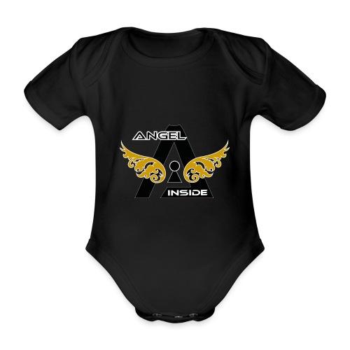 ANGEL INSIDE2-01 - Body ecologico per neonato a manica corta