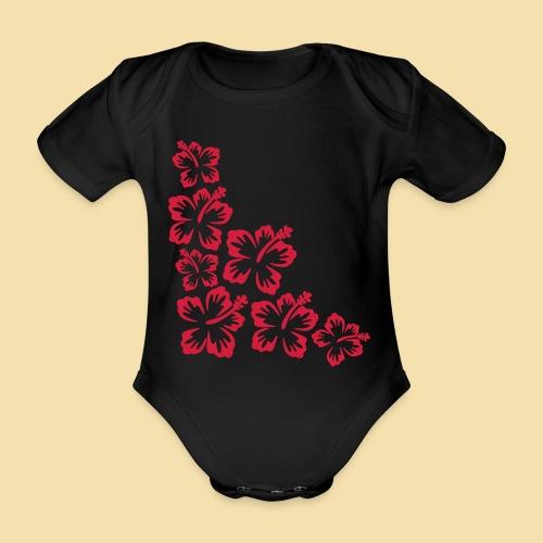 Hibiskus Blueten Ecke - Baby Bio-Kurzarm-Body