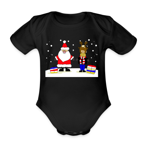 Christmas Collection - Økologisk kortermet baby-body