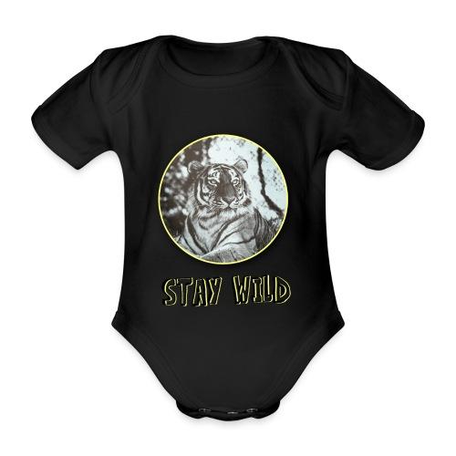 tiger5 - Baby Bio-Kurzarm-Body