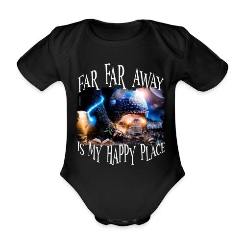 My Happy Place - Baby bio-rompertje met korte mouwen