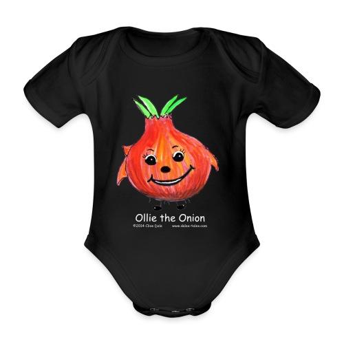 mens black T-shirt Ollie the Onion - Organic Short-sleeved Baby Bodysuit