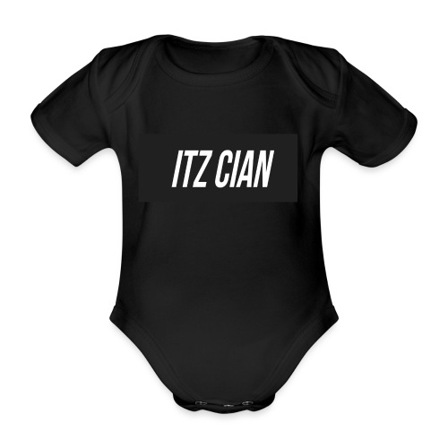 ITZ CIAN RECTANGLE - Organic Short-sleeved Baby Bodysuit