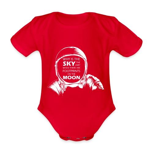 Astronaut - Footprints on the Moon - Baby Bio-Kurzarm-Body