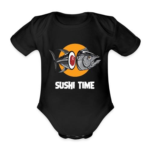 SUSHI TIME-tonno-b - Body ecologico per neonato a manica corta