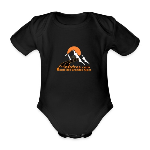 logo motofree orange - Body Bébé bio manches courtes