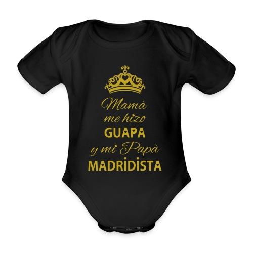 Guapa Madridista - Body ecologico per neonato a manica corta