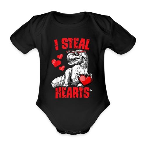 I steal hearts - Baby bio-rompertje met korte mouwen