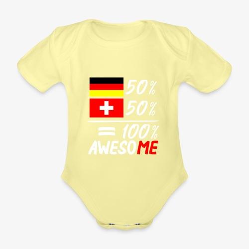 50% Deutsch 50% Schweiz - Baby Bio-Kurzarm-Body