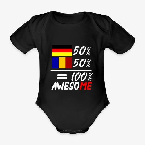 50% Deutsch 50% Rumänisch - Baby Bio-Kurzarm-Body