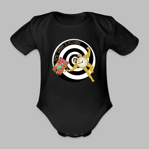 Time Travel - Organic Short-sleeved Baby Bodysuit