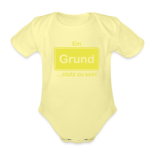 Grund_Shirts - Baby Bio-Kurzarm-Body