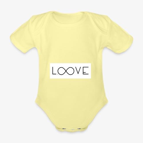 LOOVE Box Logo (SS18) - Body ecologico per neonato a manica corta