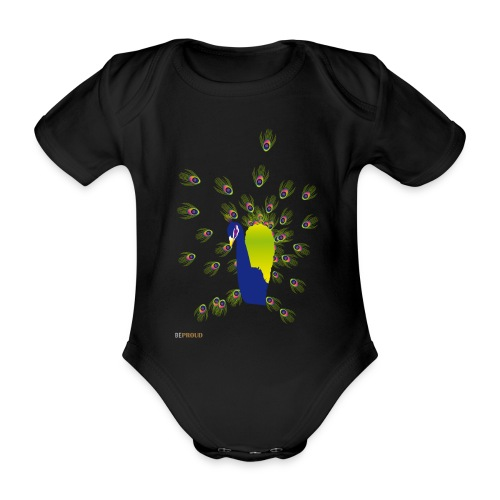 BEPROUD.png - Baby bio-rompertje met korte mouwen