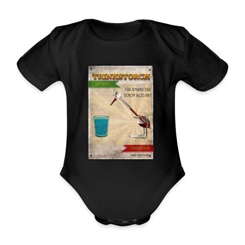 Trinkstroch Retro Vintage - Baby Bio-Kurzarm-Body