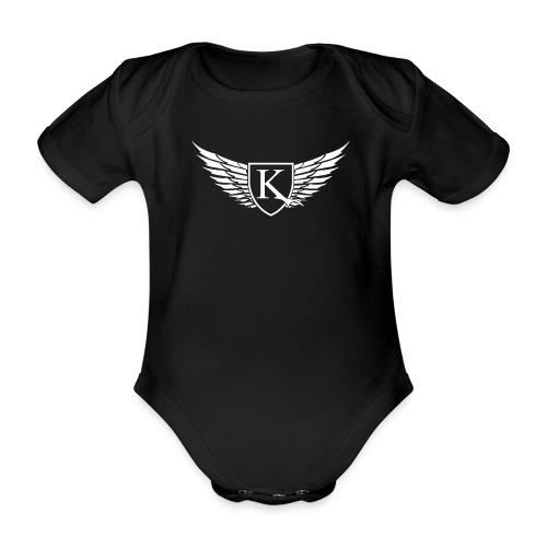 K-Wings white - Baby Bio-Kurzarm-Body