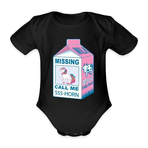 Missing Unicorn - Lost Unicorn - Organic Short-sleeved Baby Bodysuit