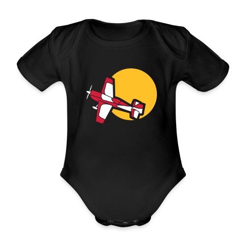 Flugzeug Jet Airplane Sky Himmel Sun Sonne Sport - Baby Bio-Kurzarm-Body