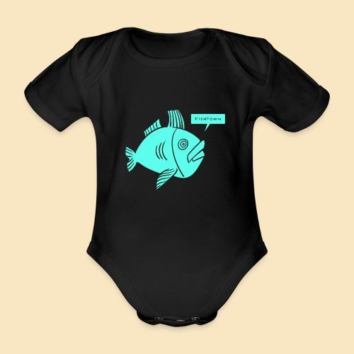 Fishtown Singlefish Motiv 001 - Baby Bio-Kurzarm-Body