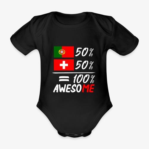 50% Portugal 50% Schweiz - Baby Bio-Kurzarm-Body