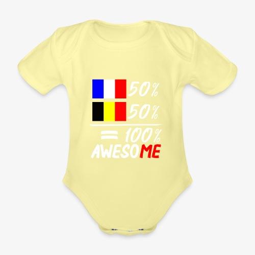 50% Frankreich 50% Belgien - Baby Bio-Kurzarm-Body