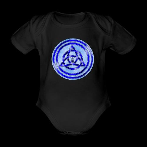 Awen Triqueta Circle - Organic Short-sleeved Baby Bodysuit