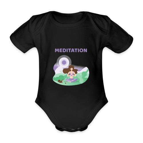 Yoga Meditation - Body ecologico per neonato a manica corta