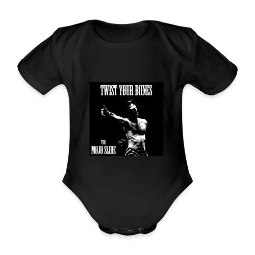 Twist Your Bones - Design 1 - Organic Short-sleeved Baby Bodysuit