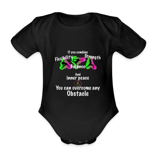Overcome Obstacle MaitriYoga - Body Bébé bio manches courtes