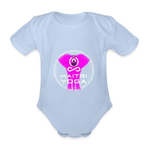 Pink Elephant Om - Body Bébé bio manches courtes